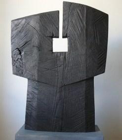 Torse, frêne, pièce unique, 75,5 x 57 cm, 2014