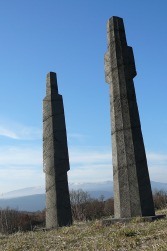 Sentinelle, béton, pièce originale 1/8, 207 cm, 2014 Grande Figue II, béton, pièce originale 1/8, 210 cm, 2014