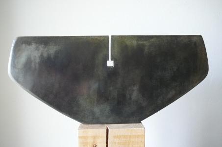 Au Coeur, zinc, pièce originale 2/6, 14 x 32 cm, 2016