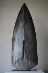 Biface VI, frêne, pièce unique, 68 x 24 cm, 2016