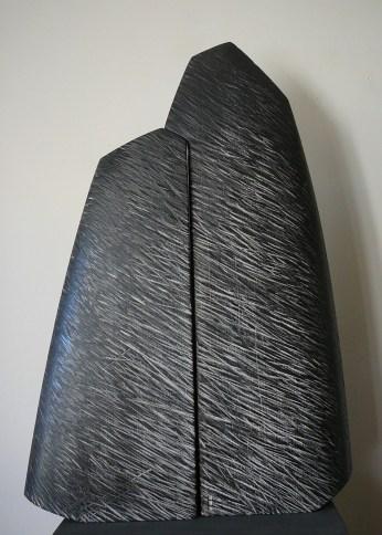 Pierre Levée VI, hêtre, pièce unique, 70 x 46 cm, 2016