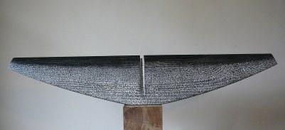 Thorax I, frêne, pièce unique, 68,5 x 12,5 x 7 cm, 2017