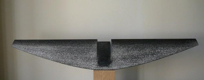 Thorax II, acacia, pièce unqiue, 81 x 13 cm, 2017