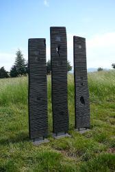 Des Guerriers, triptyque, fraké, 193 - 202- 216 cm, pièces uniques, 2010