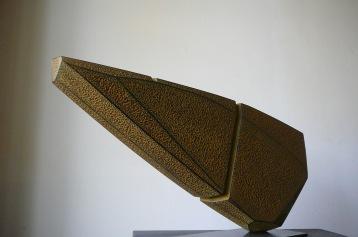 Equilibre- Tilleul, pigments, Ht 25 x L 51,5 cm, pièce unique, 2020