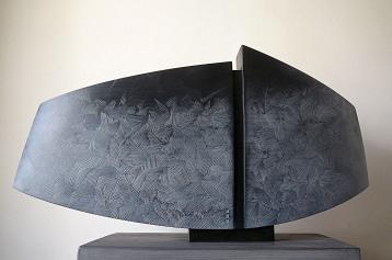 Falaise - Tilleul,pigments, Ht31,5 x L 58 cm, pièce unique, 2020