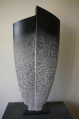 La Source II- Hêtre,pigments,chaux, Ht61 x L 27,5 cm, pièce unique, 2020