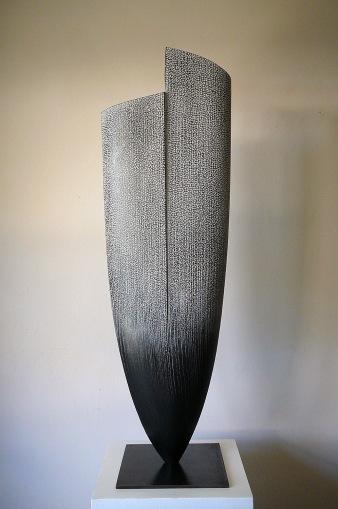 La Source - Frêne, pigments,chaux, Ht 71 x L 22,5cm, pièce unique - 2019