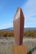Pierre Levée I, acier, Ht 100 x L 29cm, pièce unique, 2019